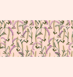 Summer designs lilac wildflowers seamless vector