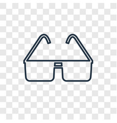 sunglasses concept linear icon isolated on vector image