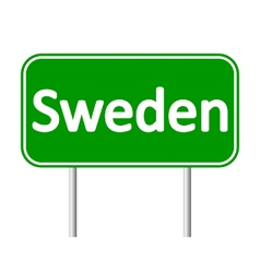 Sweden road sign vector