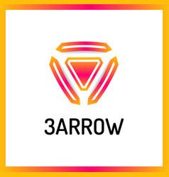 Trinity arrow reactor logo vector