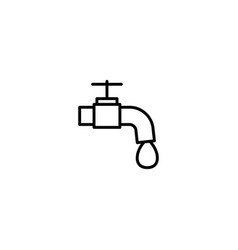 water tap faucet icon vector image
