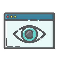 Web visibility filled outline icon seo vector