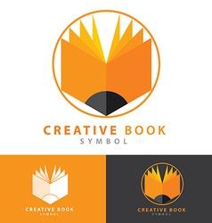 Creative book icon vector image vector image