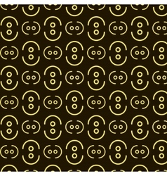 dots waves pattern vector image