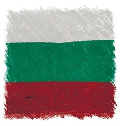 Flag of Bulgaria handmade square shape vector image vector image