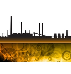 pollution factory vector image vector image