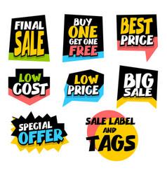 sale super big collection label best price vector image