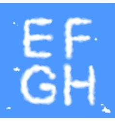 Cloud Letters vector image
