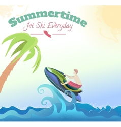 Jet ski vector image vector image