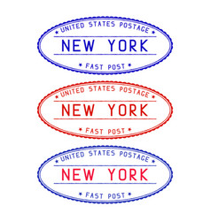 new york oval postmark vector image