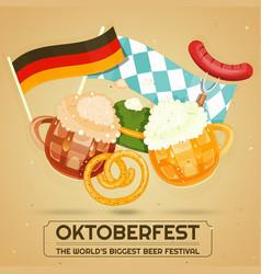 oktoberfest beer festival vector image vector image