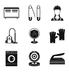 appliance icons set simple style vector image vector image
