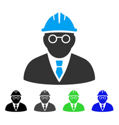 Clever engineer flat icon vector