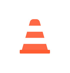 Cone solid icon navigation and traffic warning vector