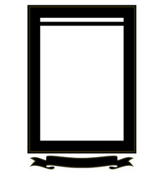 funeral frame with tape for an inscription a sad vector image