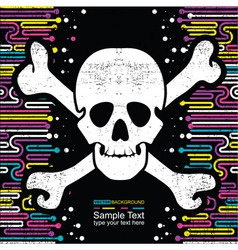 Background with skulls vector image vector image