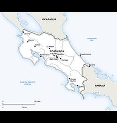 Costa Rica political map vector image