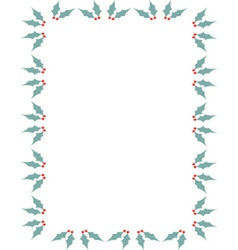 Holly border vector image vector image