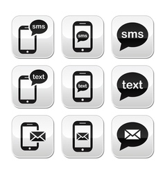 Mobile sms text message mail buttons set vector image vector image