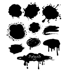 splash bubbles vector image vector image