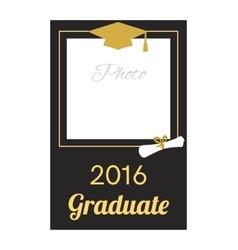 Student 2016 graduation photo frame vector image