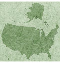 Textured usa map vector