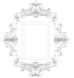 Vintage classic frame - abstract vector image vector image