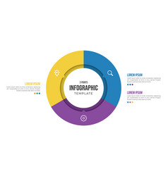 3 points circular infographic element template vector image