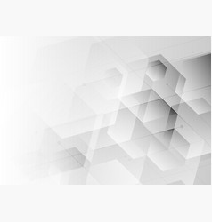 abstract background white and gray hexagon vector image