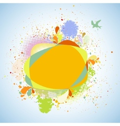 Abstract flower nature background EPS 8 vector image