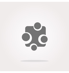 Abstract glossy web button icon isolated vector