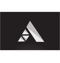 Alphabet letter A geometric logo icon design vector