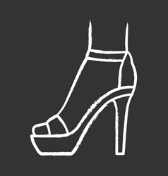 ankle strap high heels chalk icon woman stylish vector image