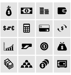 black money icon set vector image