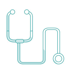 blue silhouette shading cartoon stethoscope vector image