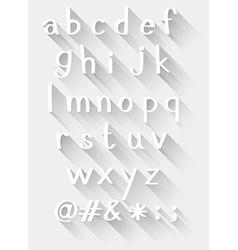 Blurry template of the letters vector