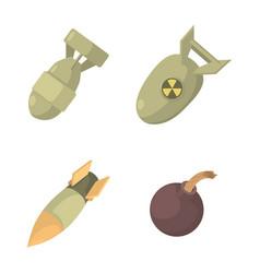 bomb icon set cartoon style vector image