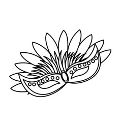 brazilian carnival mask symbol design vector image