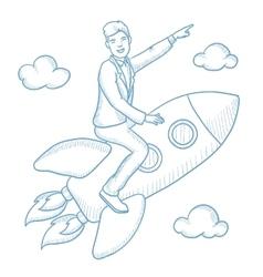 Business start up sketch vector image