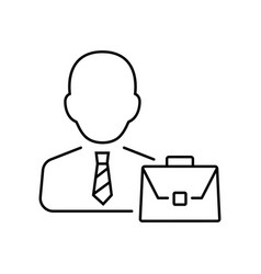businessman icon in thin line style symbol vector image