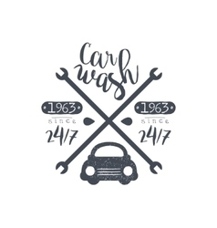 Carwash Black Vintage Stamp vector
