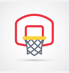colored basketball basket icon vector image