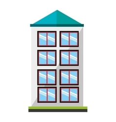 Colorful tall building graphic vector