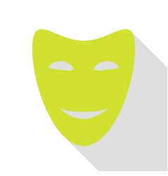 comedy theatrical masks pear icon with flat style vector image