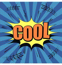 Comic style cool wording vector image