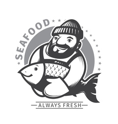 Commercial Fishing emblem vector image