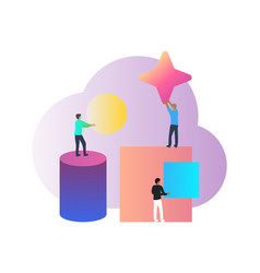 concept for people teamwork teambuilding human vector image