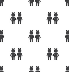 couple seamless pattern vector image