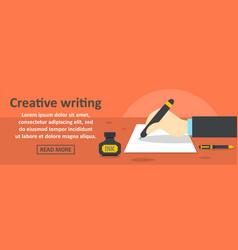 Creative writing banner horizontal concept vector