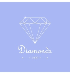 diamond shopping emblem vector image